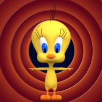 3d tweety bird model