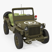 3d jeep willys 1944