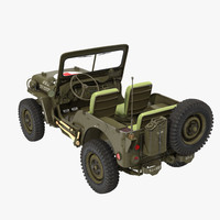 3d jeep willys 1944 ambulance model