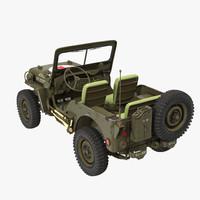Jeep Willys 1944 Ambulance 3D Model