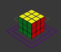 3d rubiks cube rig model