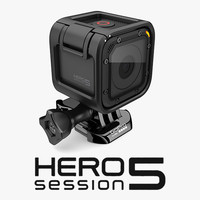 3d model gopro hero 5 session