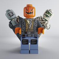 3d max set lego creatures