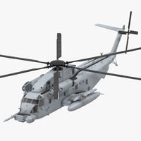 3d model of sikorsky mh-53 pave usaf