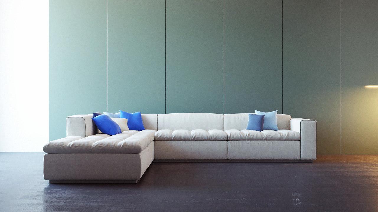 Modern italian design sofa 3d max