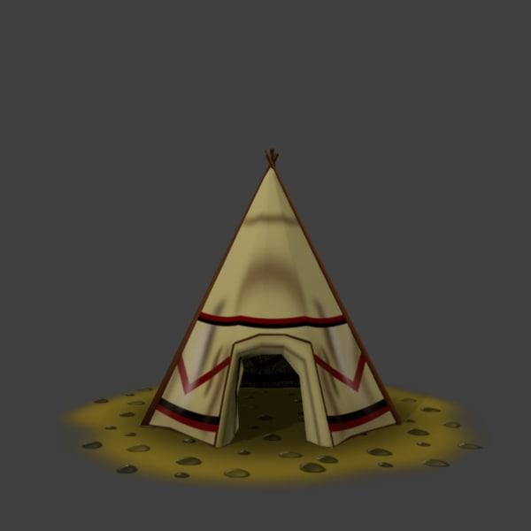 3d tribal tent model
