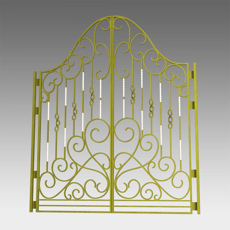 3d model classic gate