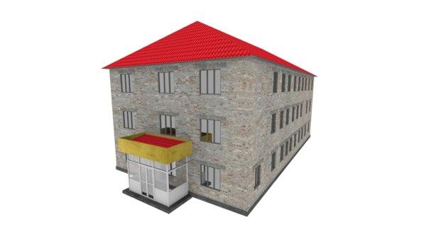 russian school building 3d model