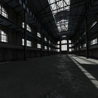 3d model old factory interior