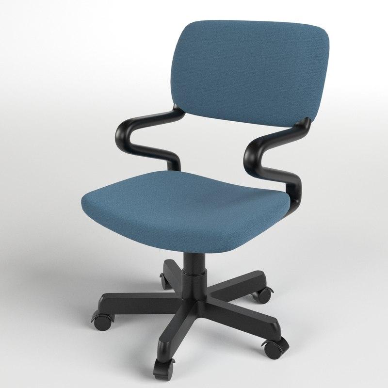 office chair 1 3d model