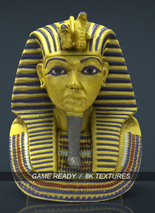 3d mask tutankhamun