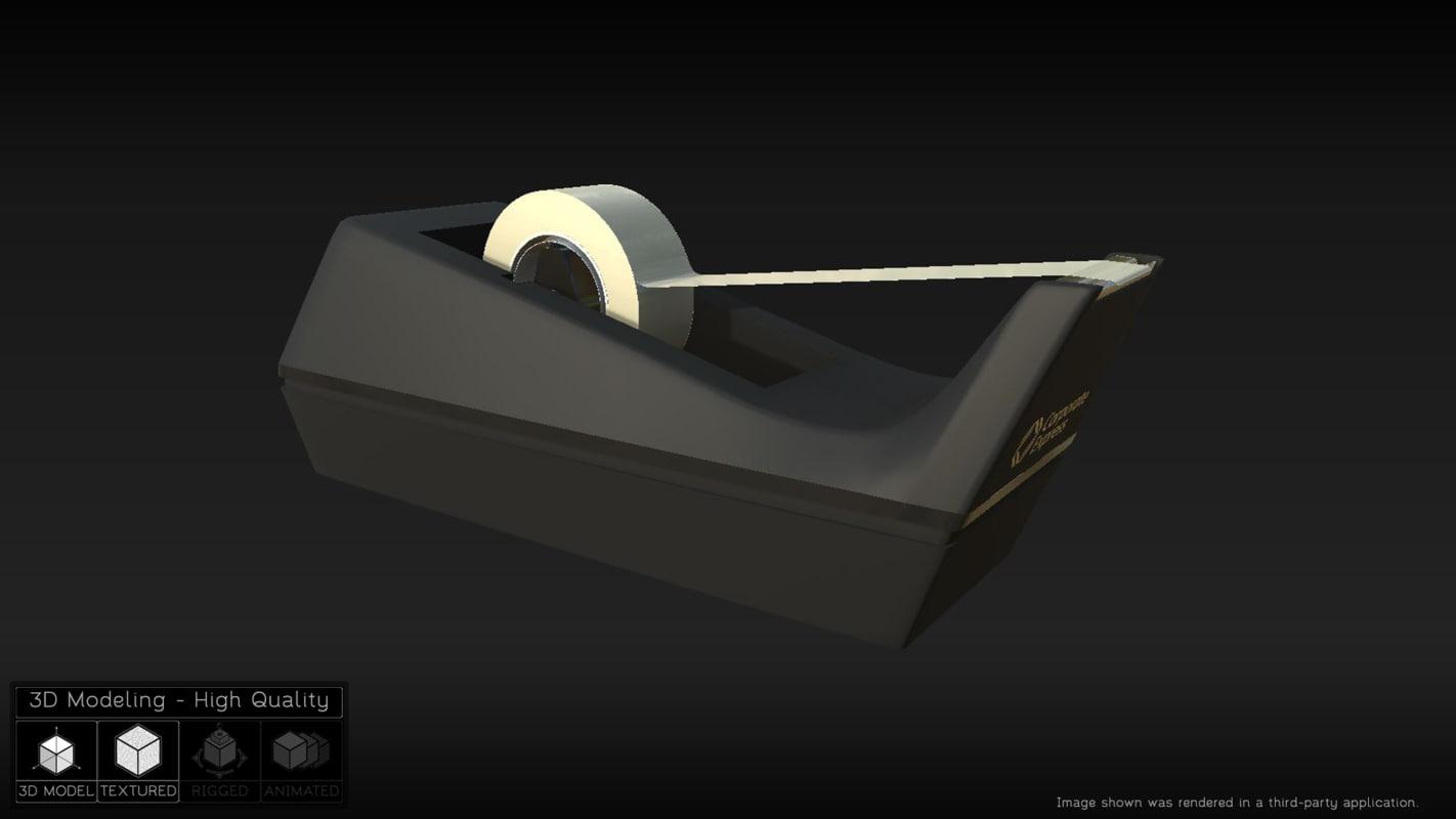3d model tape dispenser