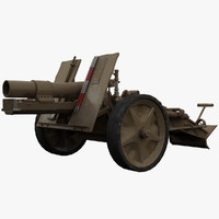 3d canon mortar model