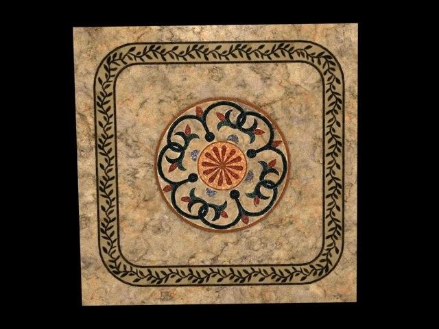 roman marble floor deco 3d model
