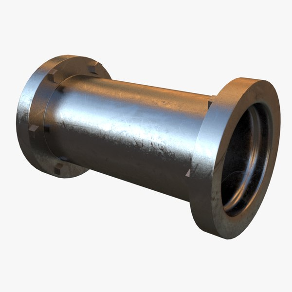 steel straight pipe 3d ma
