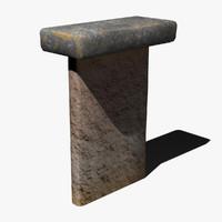 ancient monument 3d max