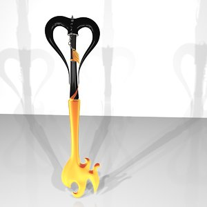 3d keyblade key blade model