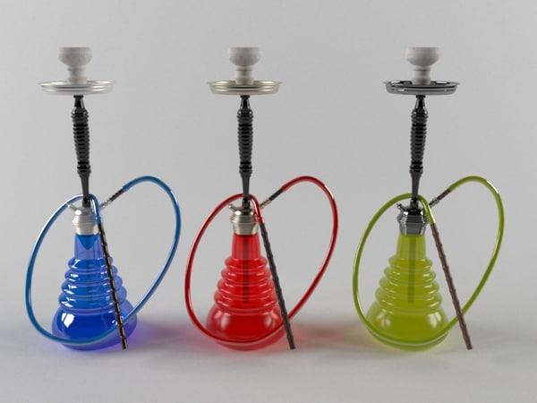 hookah shisha tobacco 3d model