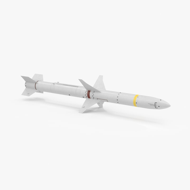 aircraft missile agm 88 3d model