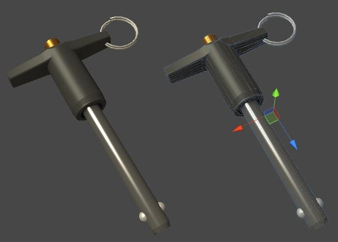 ball lock pins 3d model