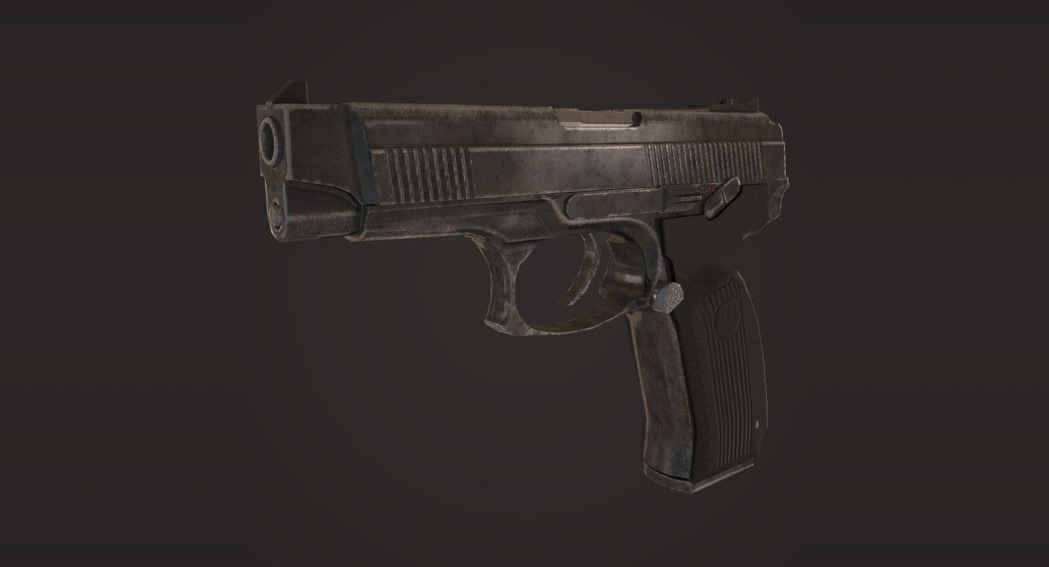 3d mp-443 grach pistol model