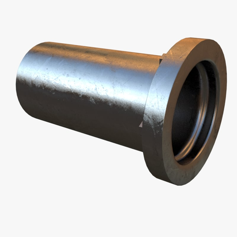 3d model steel base pipe