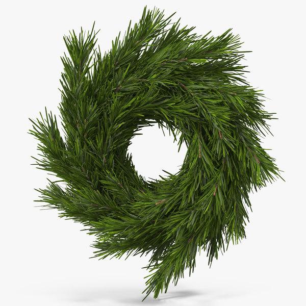 3d model christmas wreath 3