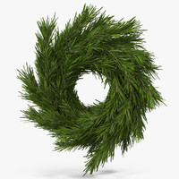 3d model christmas wreath 3