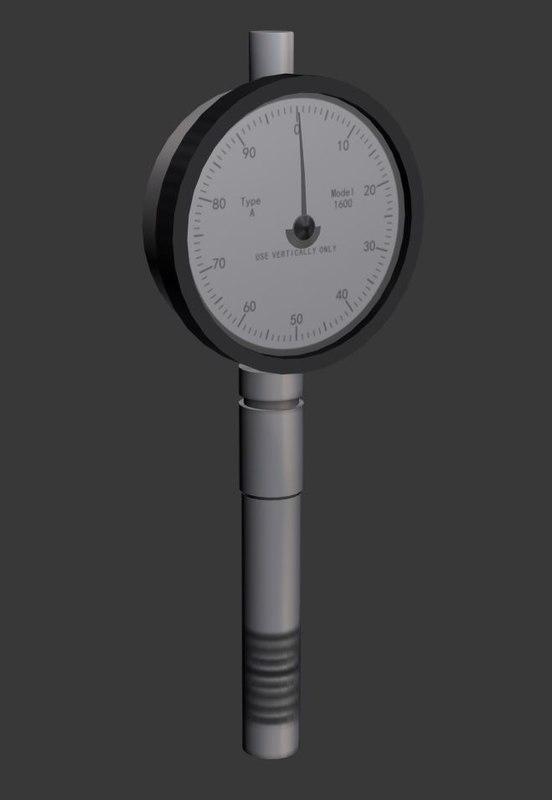 3d model analog durometer