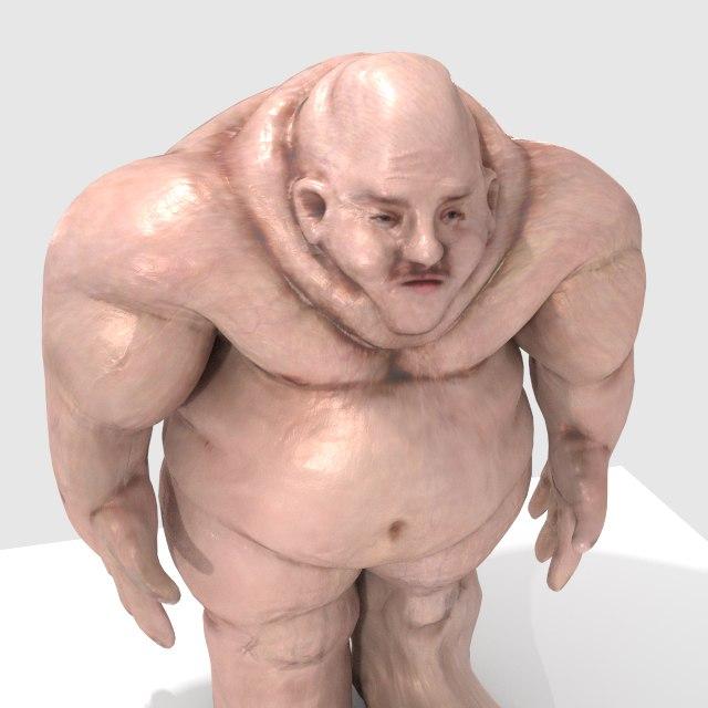 fatty humanoid 3d obj