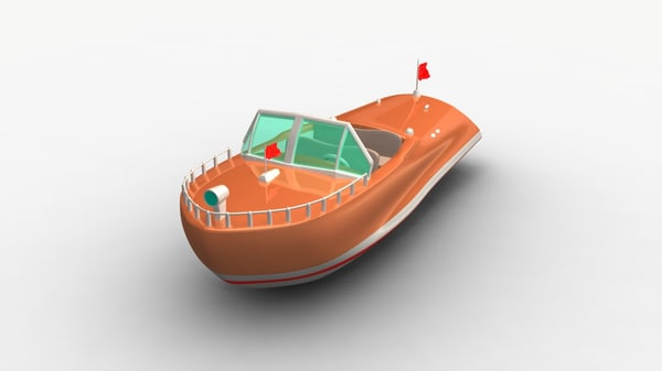cartoon speedboat 3d ma