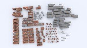 3ds brick rubble