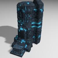 3d model sci fi building games