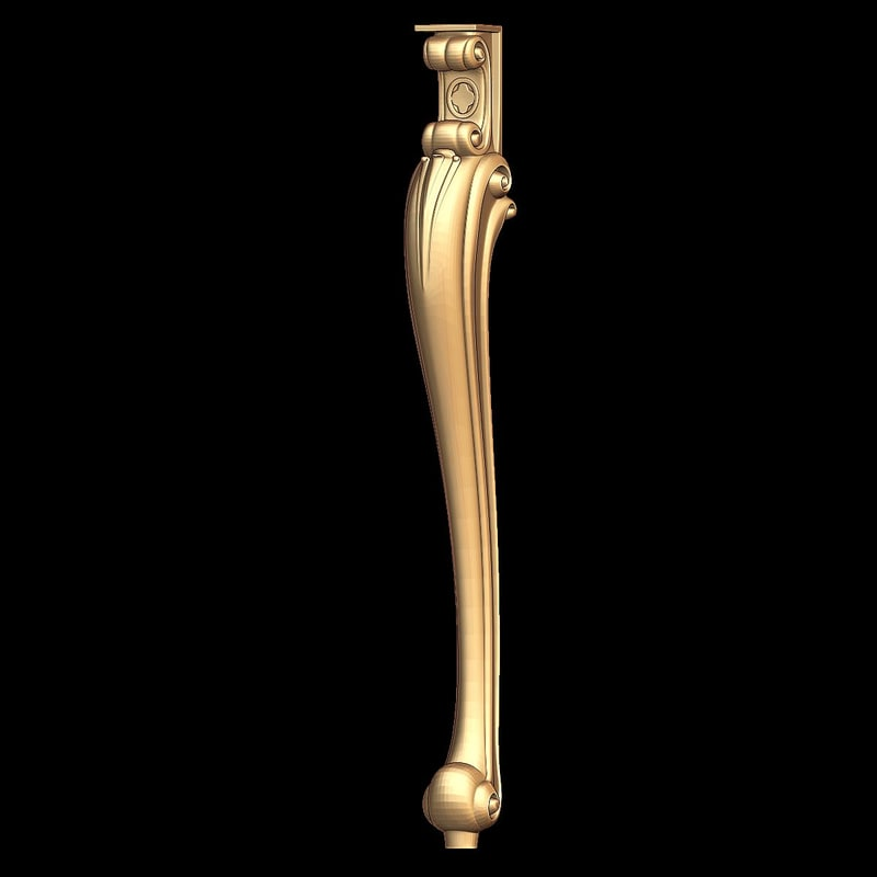 3d model of chair leg stl cnc