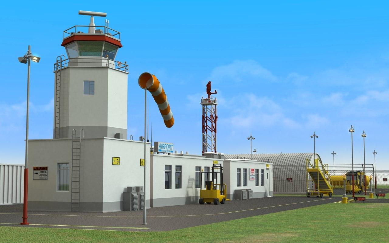 civilian military airport 3d lwo