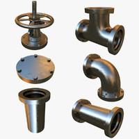 steel pipe 3d model