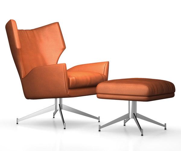 hemming leather swivel 3d model