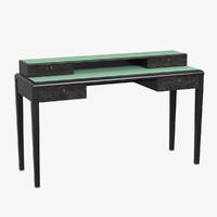 3d model desk armani casa justin