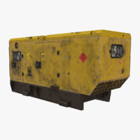 old diesel generator 3d model
