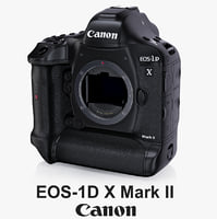 3d model canon eos-1d x mark
