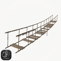 old wooden rope bridge 3ds