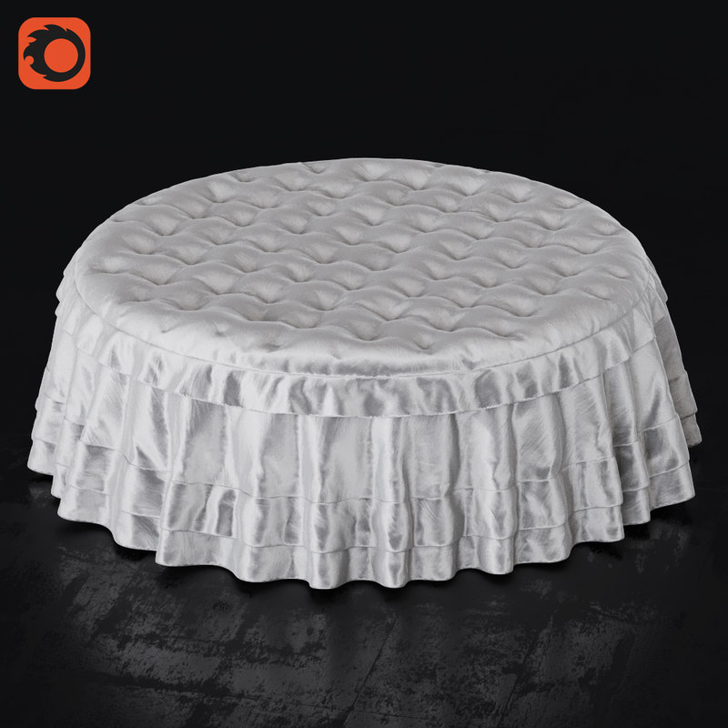 3d cloth pouf