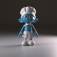 3d obj chief smurfs
