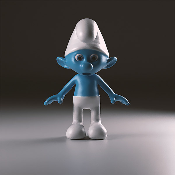 clumsy smurfs 3d model