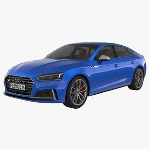 3d model of audi s5 sportback 2017