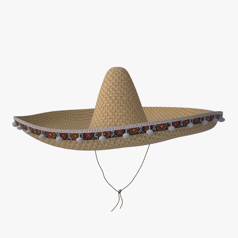 sombrero 3d max