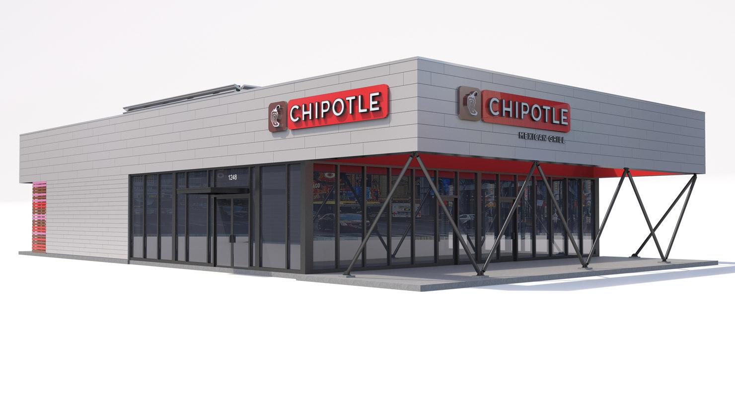 3d model of chipotle restaurant