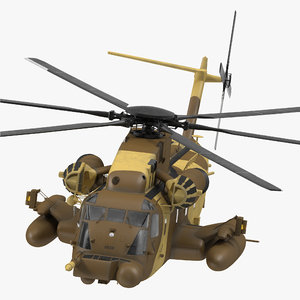 3d combat helicopter sikorsky mh-53