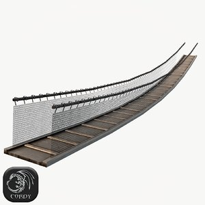 wooden rope bridge 3d max