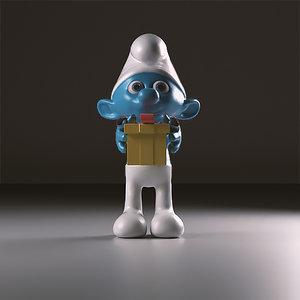3d model jokey smurfs